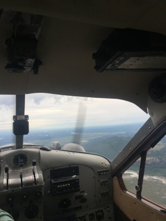 Talkeetna Air Taxi: View from inside the plane!
