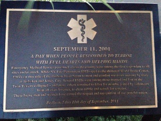 West Orange, NJ: Essex County Eagle Rock September 11th Memorial