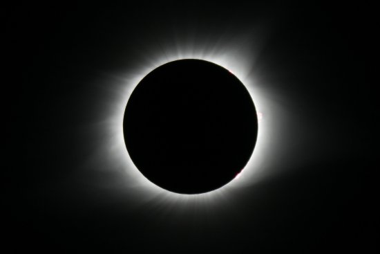 Totality Over White House - Solar Flares @ 1, 3 & 4 O'clock