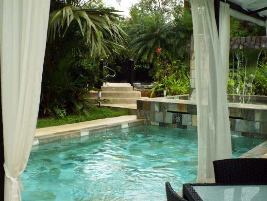 The Royal Corin Thermal Water Spa & Resort : Bungalow outside near pool.