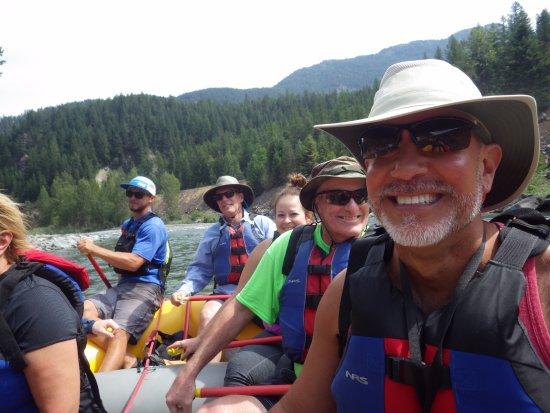 West Glacier, MT: Happy rafters!