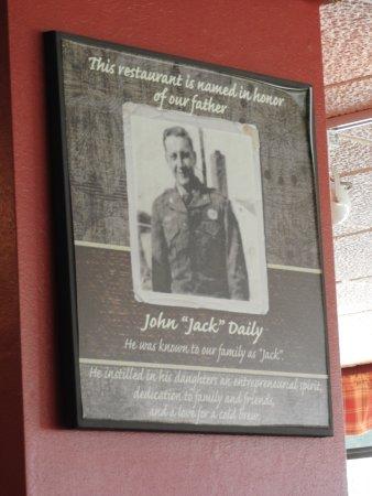 Brimley, MI: The plaque honoring their dad