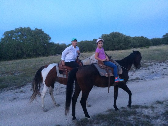 Blanco, TX: This is me riding the trail with my granddaughter.
