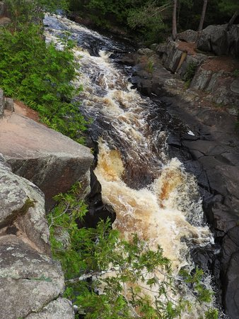 Amberg, WI: Lots of rushing water