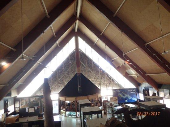 The Vanuatu Cultural Centre : looking down over the 1st floor exhibits