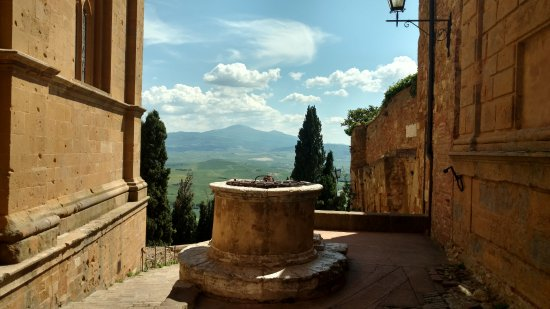 Pienza, Italy: View from side of church