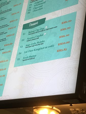 Sepang District, Malaysia: Why price not charged as per menu?