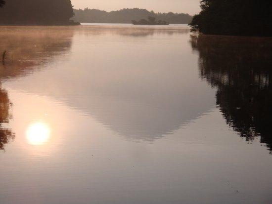 Lake Tanuki: 湖面に映った逆さ富士