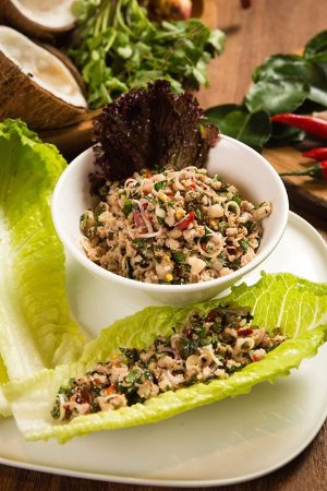 Thai Minced Pork with Lettuce Wrap