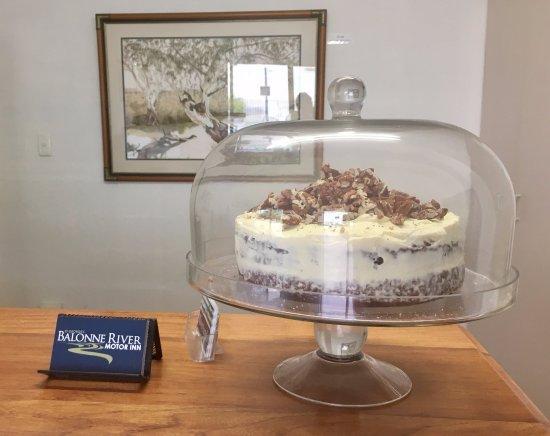 St George, Australia: Home baked carrot cake