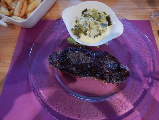 Le Bonhomme, Frankreich: Viande grillée excellente ! Et frites excellentes aussi !