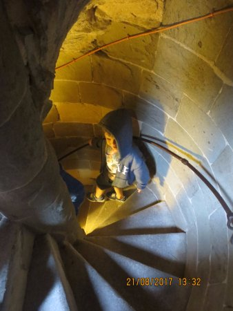 Tewkesbury, UK: stairs to the top