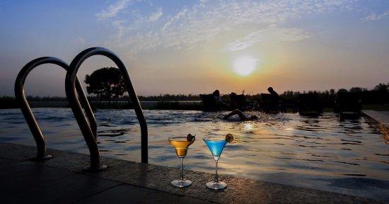 Kangri, India: A refreshing swim our infinity pool