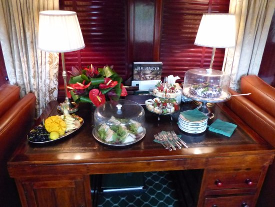 Cape Town, South Africa: High tea in the lounge compartment