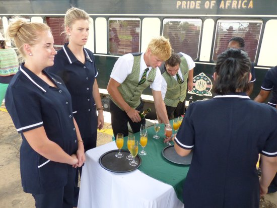 Cape Town, South Africa: Drinks on the platform in Kimberley