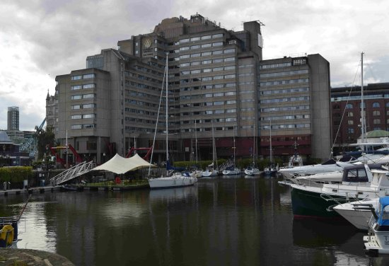 The Tower: View of hotel from accross the Dock - a nice walk