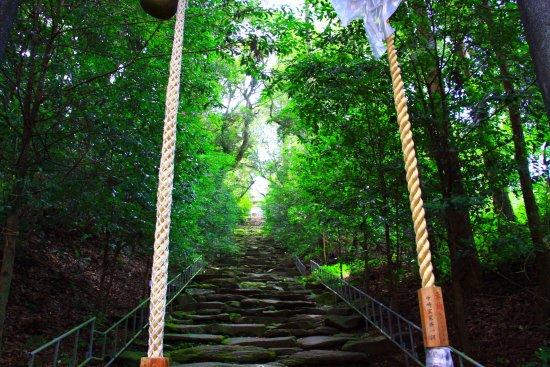 Miyakonojo, Japan: 見た目以上の勾配がある「振り向かずの坂」