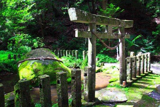 Miyakonojo, Japan: 苔むした柵柱にも心が現れます