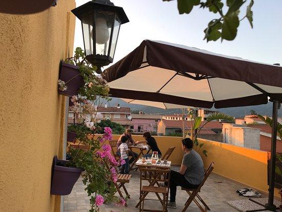 Torpe, อิตาลี: Terrazza con vista dove fare colazione