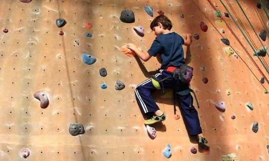 Audley, UK: Indoor climbing