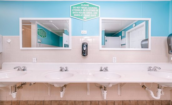Holiday Trav-L-Park Resort: You won't find any cleaner bathhouses than ours. We clean them twice daily and have plenty of AC