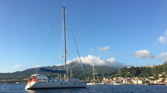 Road Town, Tortola: SY Nemo at BlueFoot Travel anchored in St Pierre, Martinique