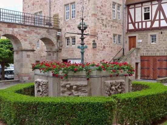 Eschwege, Germany: Brunnen im Schlosshof