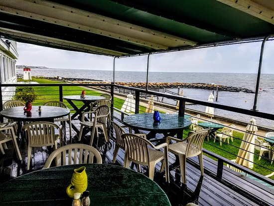 Lighthouse Inn: Deck; view looking East toward England, Scotland and Wales