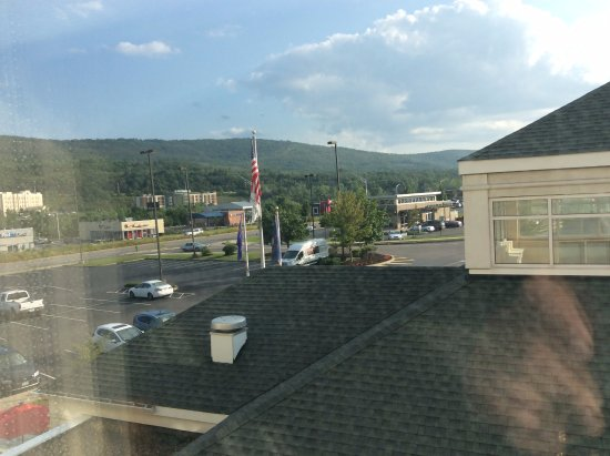 Hilton Garden Inn Wilkes Barre: View from room: mountains