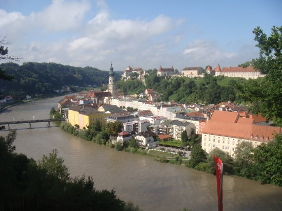 Ach, Austria: View from accommondation towards Burghausen, Germany