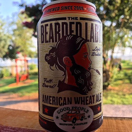 Scottsboro, AL: Good People Brewing's Bearded Lady is a light-bodied wheat ale with a hint of hops for a twinge