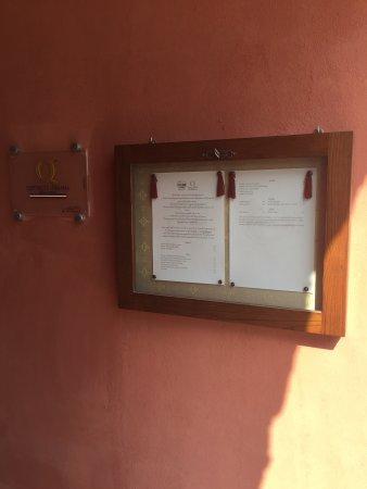Agriturismo La Casa di Botro: Menù con prezzi  Menù with prices