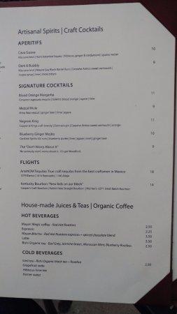 Mayan Cafe: Cocktail Menu