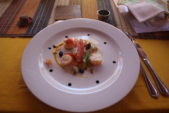 Belo Tsiribihina, Madagascar: Gorgeous starters. Could have eaten it twice over!