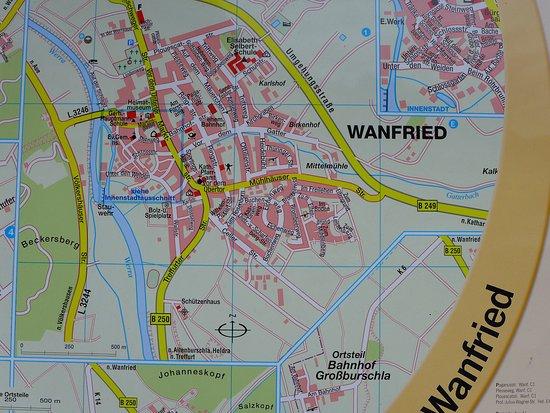 Stadtplan von Wanfried