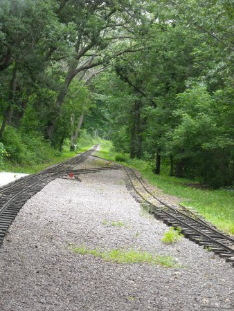 Riverside and Great Northern Railway : looking back from the end of the line. Track on right used to turn the power.