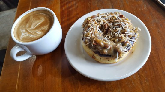 The Woodlands, TX: Cubano Coffee with a Dosey Doe-nut,German Chocolate