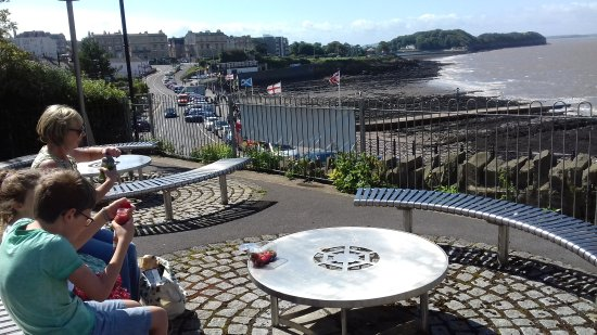 Overlooking Clevedon seafront from opposite Clevedon Pier