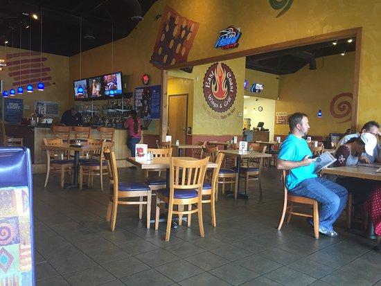Mocksville, NC: Back room at East Coast Wings