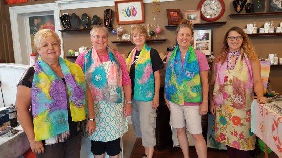 Greencastle, PA: Batik Silk Scarves