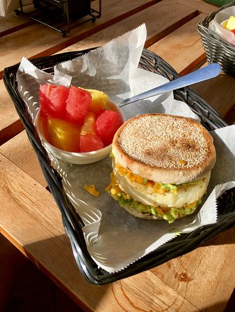 Java 654 Coffee Shop : Egg Muffins... yep... English muffin with a double egg patty...