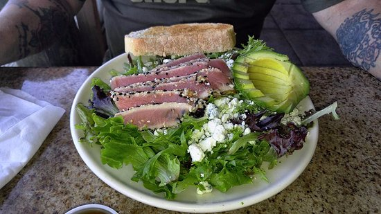 Seared Tuna Salad w/blue cheese crumbles (requested).