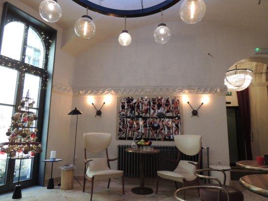 Petit salon design de l\'hôtel - Picture of Hotel Rum Budapest ...