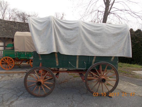 Mills River, NC: Early 1800's Covered Wagon