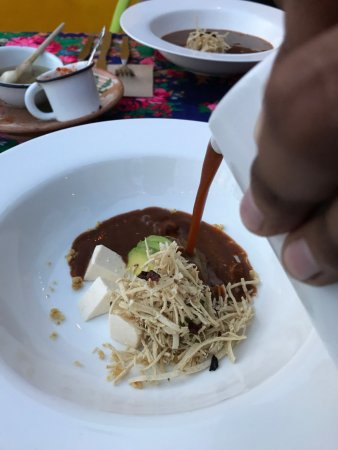 Casa de Las Bugambilias B&B: Delicious chicken tortilla soup at the restaurant upstairs. Great outdoor roof top dining.