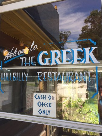 Willis, VA: Welcome to the Greek Hillbilly Restaurant, indeed!