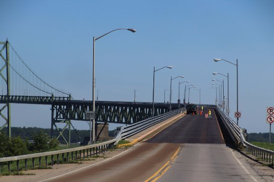 Entering the Ogdensburg-Prescott International Bridge