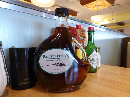 Butterfield's Pancake House: maple syrup