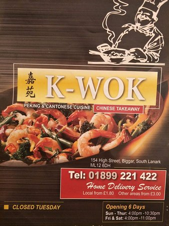 K-Wok Chinese Takeaway: New Open Time