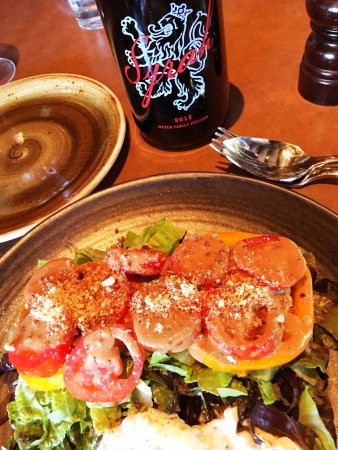 Buckeye Roadhouse : Heirloom tomatoes, little gem lettuce and fresh burrata.